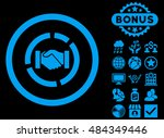 acquisition diagram icon with... | Shutterstock .eps vector #484349446