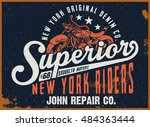 superior new york t shirt... | Shutterstock .eps vector #484363444