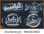 vintage t shirt graphic | Shutterstock .eps vector #484363483
