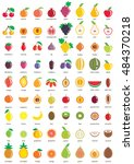 fruit icons   big set of... | Shutterstock .eps vector #484370218