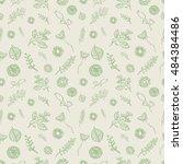 forest herbs background.... | Shutterstock .eps vector #484384486