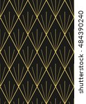 abstract geometric art deco...   Shutterstock .eps vector #484390240