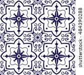 mexican tiles pattern vector...   Shutterstock .eps vector #484390288