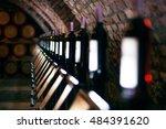 Row Of Vintage Wine Bottles In...