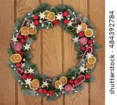 Christmas Wreath With Dried...