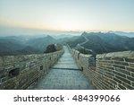 great wall china beijing   Shutterstock . vector #484399066