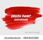 logo brush painted watercolor... | Shutterstock .eps vector #484403380