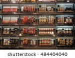 decorative cosmetics on shelves ... | Shutterstock . vector #484404040