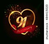 91 years anniversary logo... | Shutterstock .eps vector #484415020