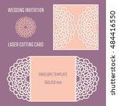diy laser cutting vector... | Shutterstock .eps vector #484416550