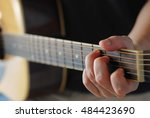 man playing music  focus on... | Shutterstock . vector #484423690