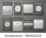 flyers template set with... | Shutterstock .eps vector #484426123