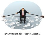 businessman is sitting on the... | Shutterstock .eps vector #484428853