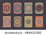 collection retro cards. ethnic... | Shutterstock .eps vector #484432300