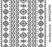 ethnic seamless monochrome... | Shutterstock .eps vector #484433500