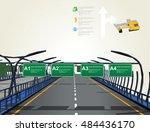 expressway flat 3d   Shutterstock .eps vector #484436170