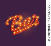 neon bar sign. vector   Shutterstock .eps vector #484437730