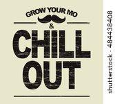hipster t shirt   grow your... | Shutterstock . vector #484438408