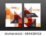 colorful geometry design annual ... | Shutterstock . vector #484438426