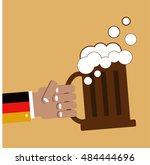 beer vector icon. oktoberfest.... | Shutterstock .eps vector #484444696