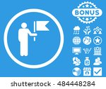 commander icon with bonus... | Shutterstock .eps vector #484448284