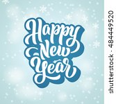 happy new year lettering text... | Shutterstock .eps vector #484449520