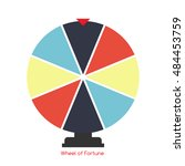 wheel of fortune  lucky icon....   Shutterstock .eps vector #484453759