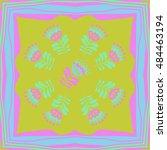 pattern of floral motif   frame.... | Shutterstock .eps vector #484463194