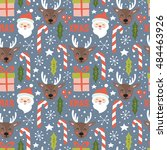 christmas holiday seamless... | Shutterstock .eps vector #484463926