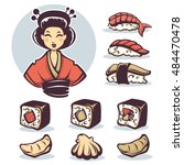 Vector Image Of Japanese Girl...