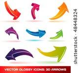 3d vector arrows | Shutterstock .eps vector #48448324