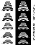 set of checkered planes in... | Shutterstock . vector #484489348