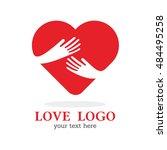 hand love hug heart | Shutterstock .eps vector #484495258
