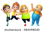 3d rendered illustration of kid ... | Shutterstock . vector #484498030