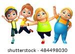 3d rendered illustration of kid ... | Shutterstock . vector #484498030