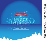 merry christmas and happy new... | Shutterstock .eps vector #484501600