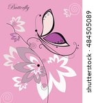 vector colorful butterfly with... | Shutterstock .eps vector #484505089