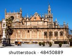 View Of Seville Cathedral With...