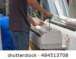 air conditioning repair   Shutterstock . vector #484513708
