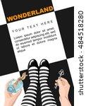 alice in wonderland. background.... | Shutterstock .eps vector #484518280