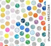 polka dots sketch pattern...   Shutterstock .eps vector #484521364