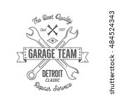 garage service vintage tee... | Shutterstock .eps vector #484524343