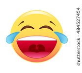 smiley. cheerful  laughing ... | Shutterstock .eps vector #484527454