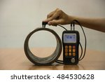 inspection wall thickness pipe... | Shutterstock . vector #484530628