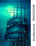 Old Pirate Ship Sails And The...