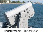 Small photo of Rolling Airframe Missile on the warship