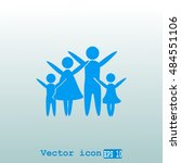 family vector icon | Shutterstock .eps vector #484551106