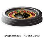 casino roulette isolated on... | Shutterstock .eps vector #484552540
