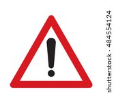 traffic sign other danger.... | Shutterstock .eps vector #484554124
