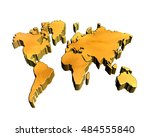 3d illustration. world map on a ... | Shutterstock . vector #484555840